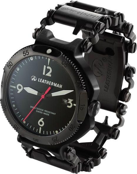 Leatherman Multi This And Say I'd In Tread Tool Bracelet Black Watch kXOPZiTu