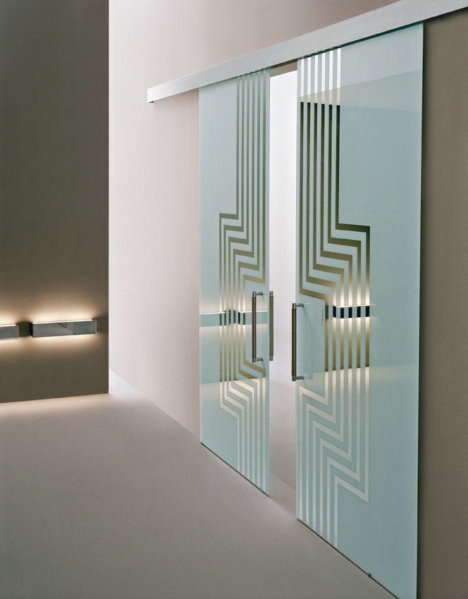 Doppia porta scorrevole esterno muro Classic, linea Vitra, vetro ...