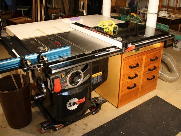 cabinet table saw saw stop cabinet extension table by bartee 13062