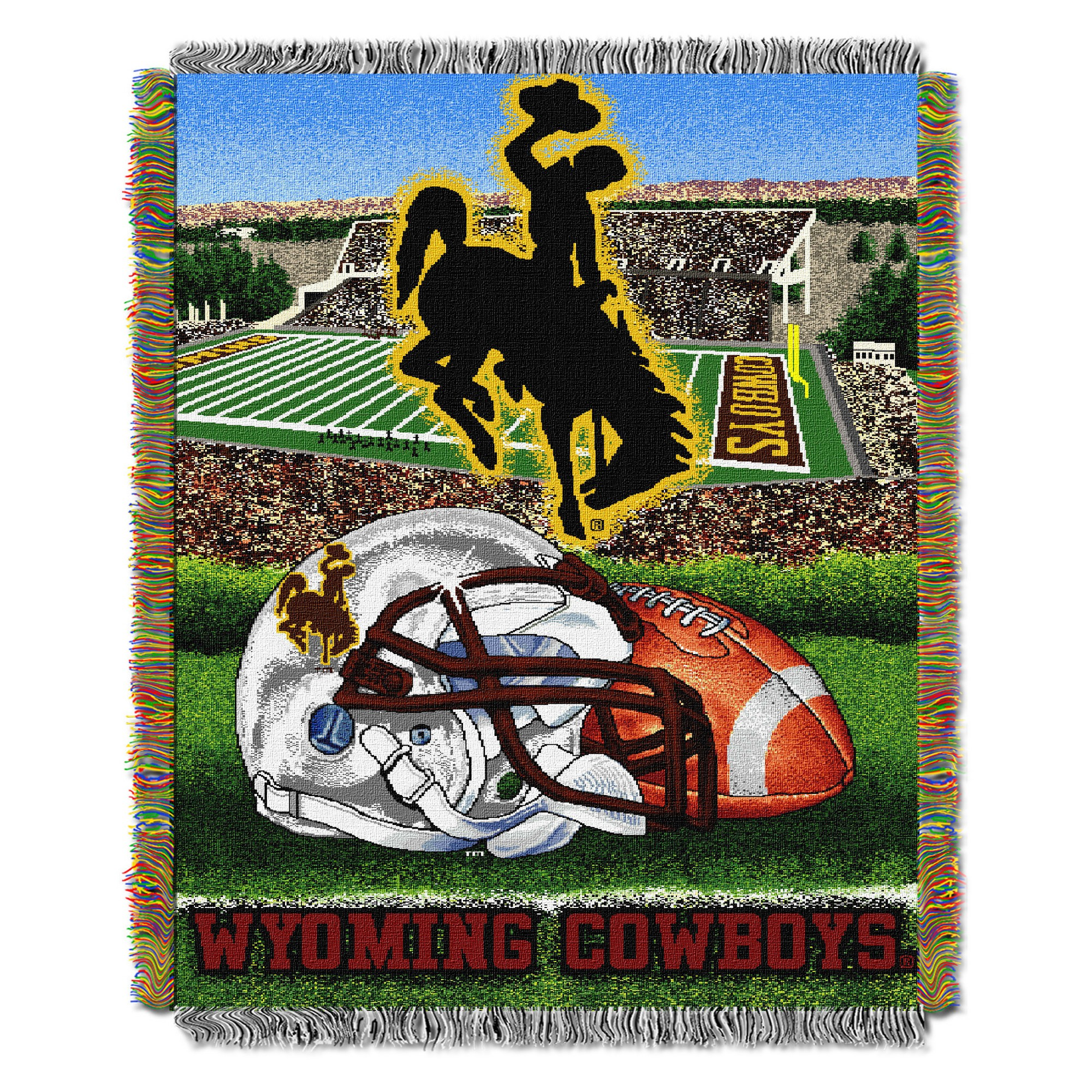 NCAA Northwest Tapestry Throw Blanket Wyoming Cowboys 48