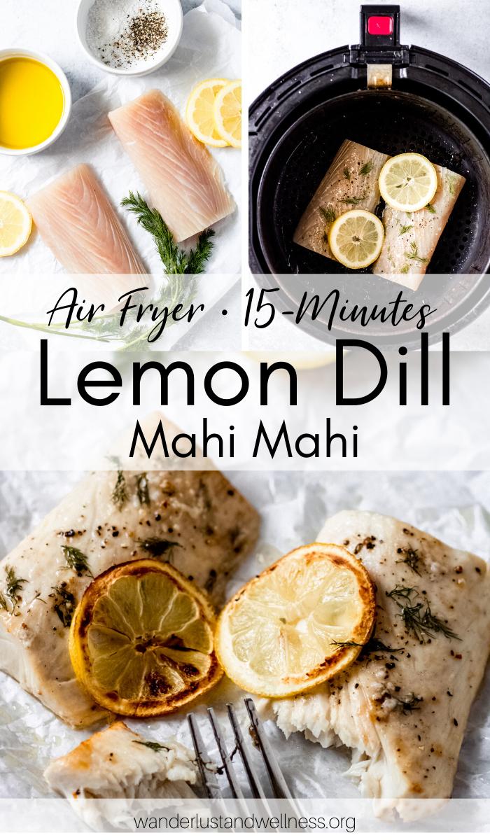 Air Fryer Lemon Dill Mahi Mahi Recipe Easy healthy