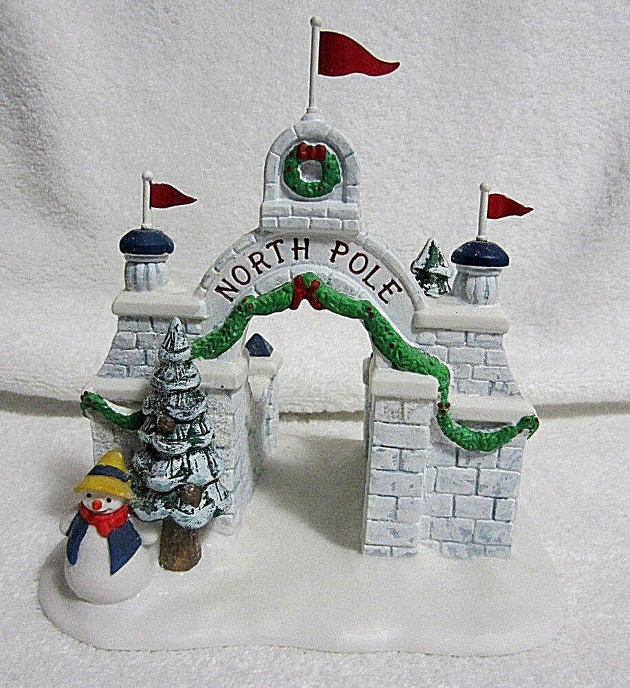 Dept 56 North Pole Gate Christmas Heritage Village