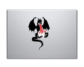 Dragon Vinyl Decal Sticker To Fit Macbook Pro - Custom vinyl decals for macbook pro