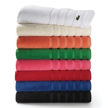 lacoste croc bath towels | bloomingdale's | decorate me