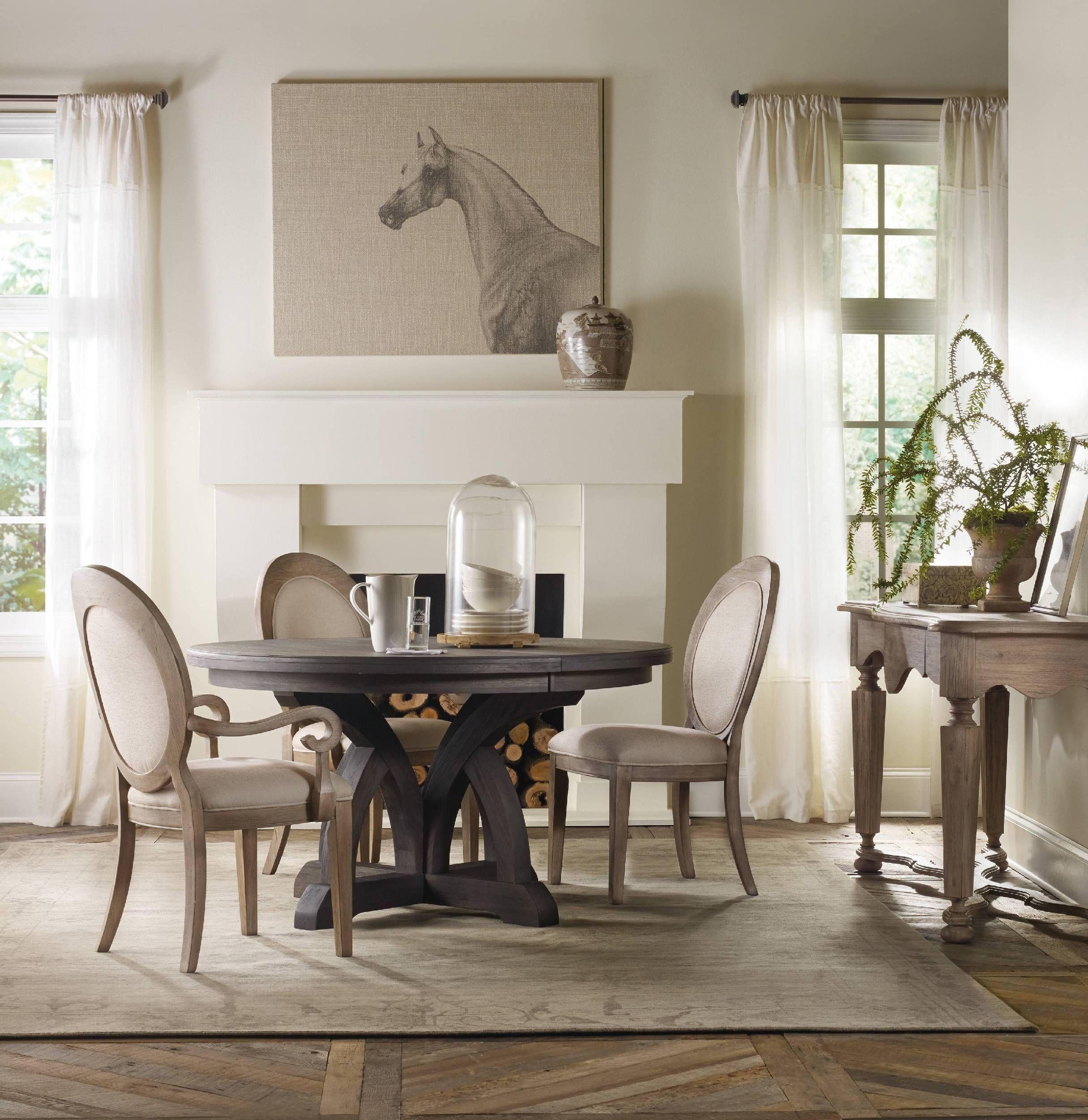 Corsica Dark Round Dining Table W 1 18in Leaf 5280 75203 Mesa Y Sillas Hogar Sillas