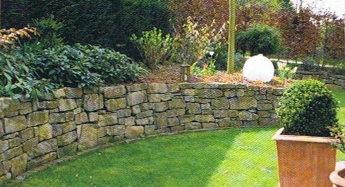 naturstein im garten - gartengestaltung mit natursteine, Gartenarbeit ideen