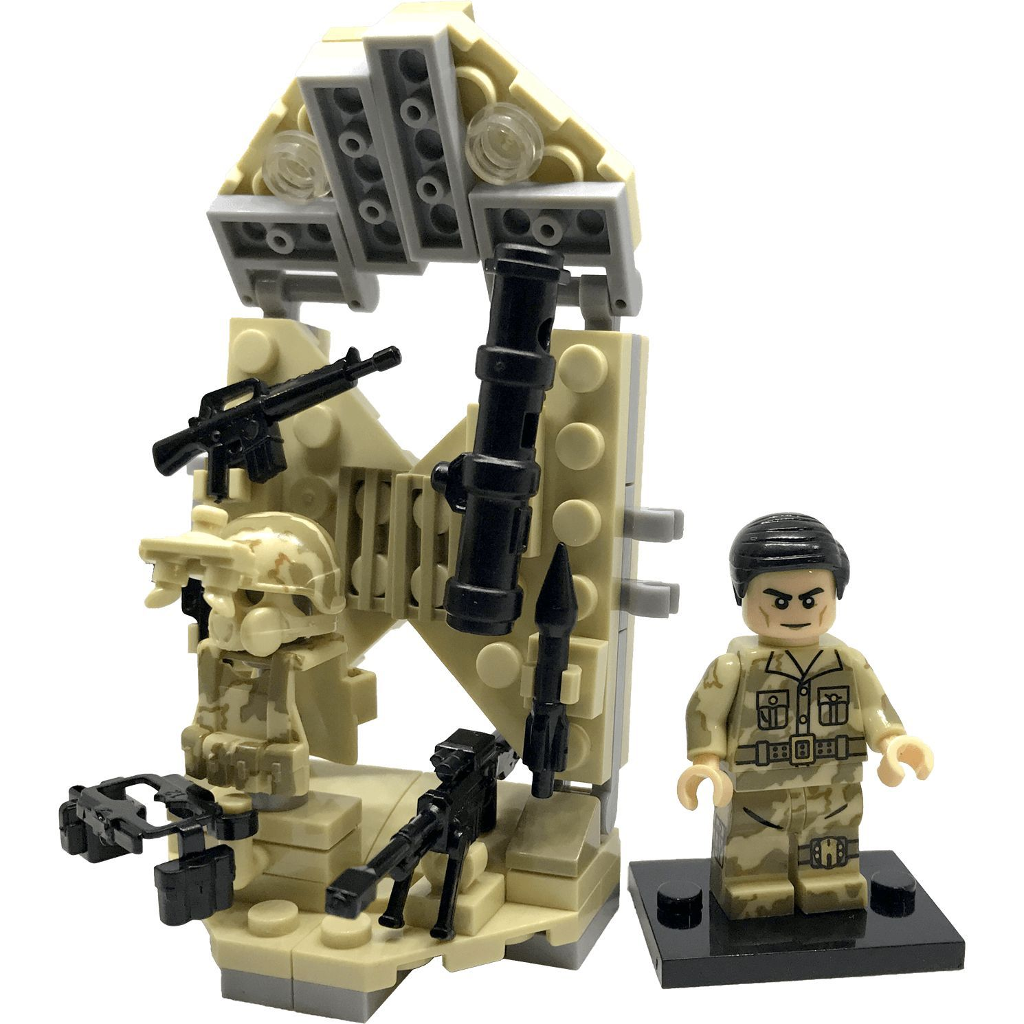 Brick Forces Minifigure Soldier With Armory - Bill