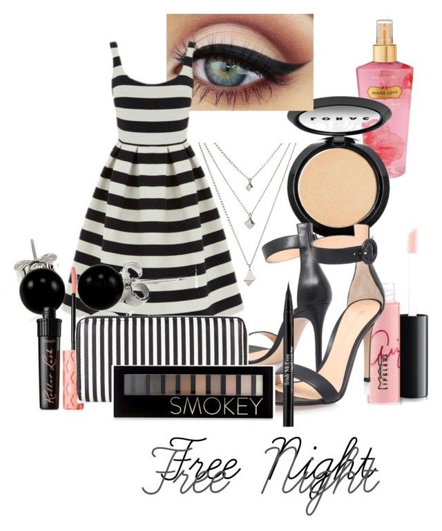 """""""Free Night"""" by melaninngoddess on Polyvore featuring MAC Cosmetics, Victoria's Secret, LORAC, Gianvito Rossi, Warehouse, Bling Jewelry, Benefit, New Look, Forever 21 and Trish McEvoy"""