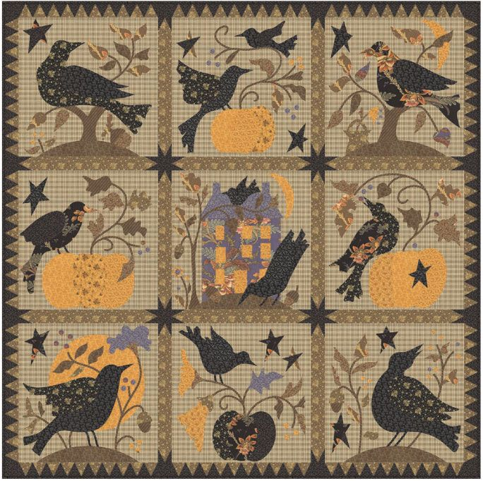 The Raven Block Of The Month Quilts Quilts Quilt Kits
