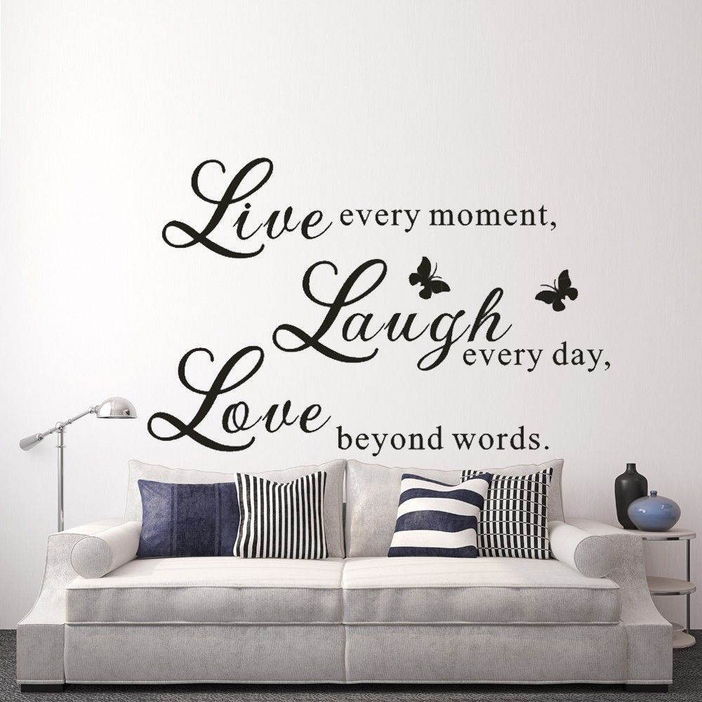 Live Love Laugh - Love Wall Decals Art Mural Quote Lettering Living ...