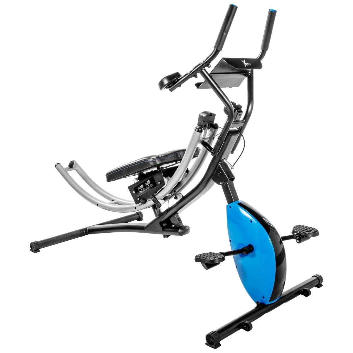 Xtremepowerus Abdominal Crunch Coaster Exercise Bike 2 In 1 Fitness Machine Biking Workout Workout Machines Stationary Cycle