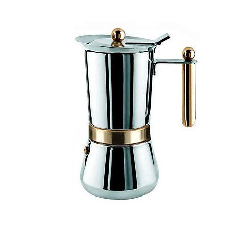 Vev Vigano Vespress Oro 4 Cup Stainless Steel Stovetop Espresso Maker By
