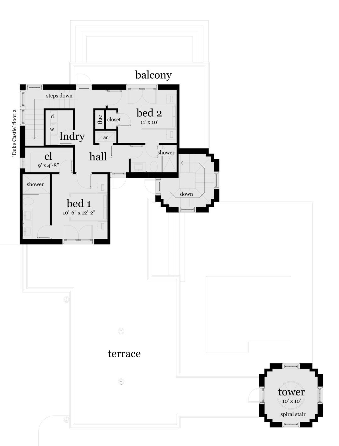 Castle Home With 2 Stair Towers Tyree House Plans Castle Floor Plan Castle House Castle House Plans