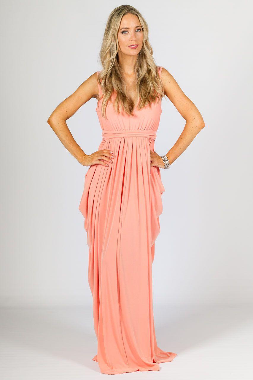 Aphrodite Maxi Dress - Sherbet - P.S. Frocks