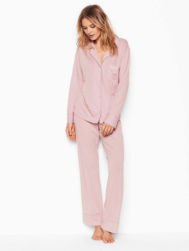 7d66dffe8b066 Victoria's Secret The Sleepover Knit PJ   Products in 2019   Silk ...