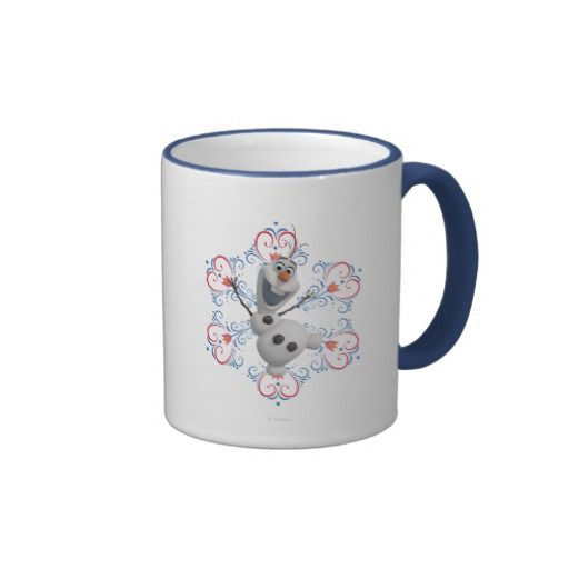 Olaf with Heart Frame Ringer Coffee Mug by Disney
