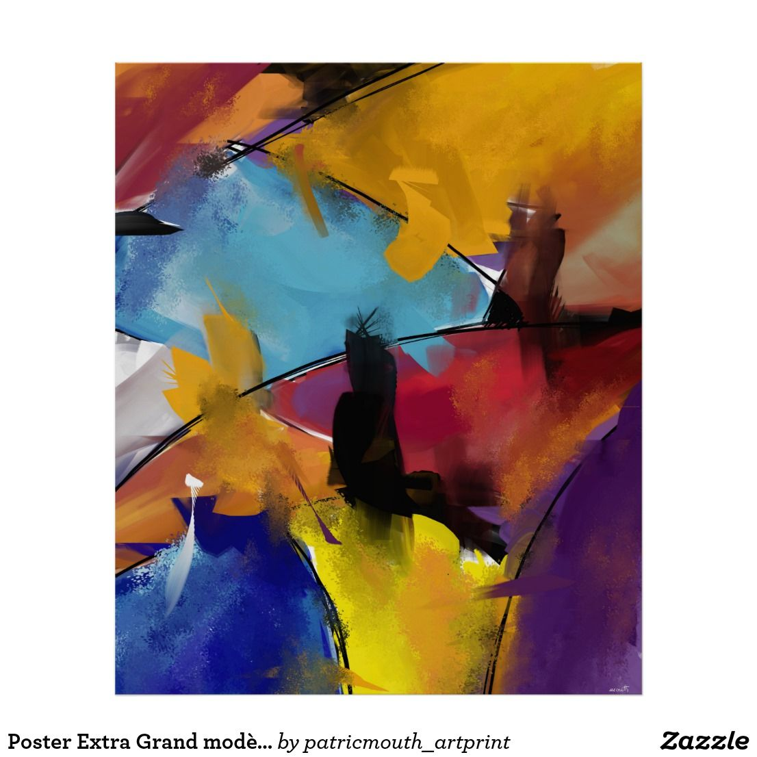 """Poster Extra Grand modèle """"Abstract 1412"""""""