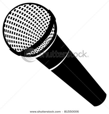 Classic Microphone Vector Clip Art Illustration Picture Clip Art Microphone Drawing Picture Illustration