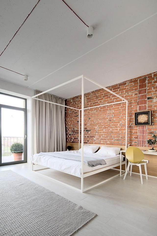 apartment design im industriellen stil loft, wohnungseinrichtung im industriellen stil von 2b group | bedroom, Design ideen