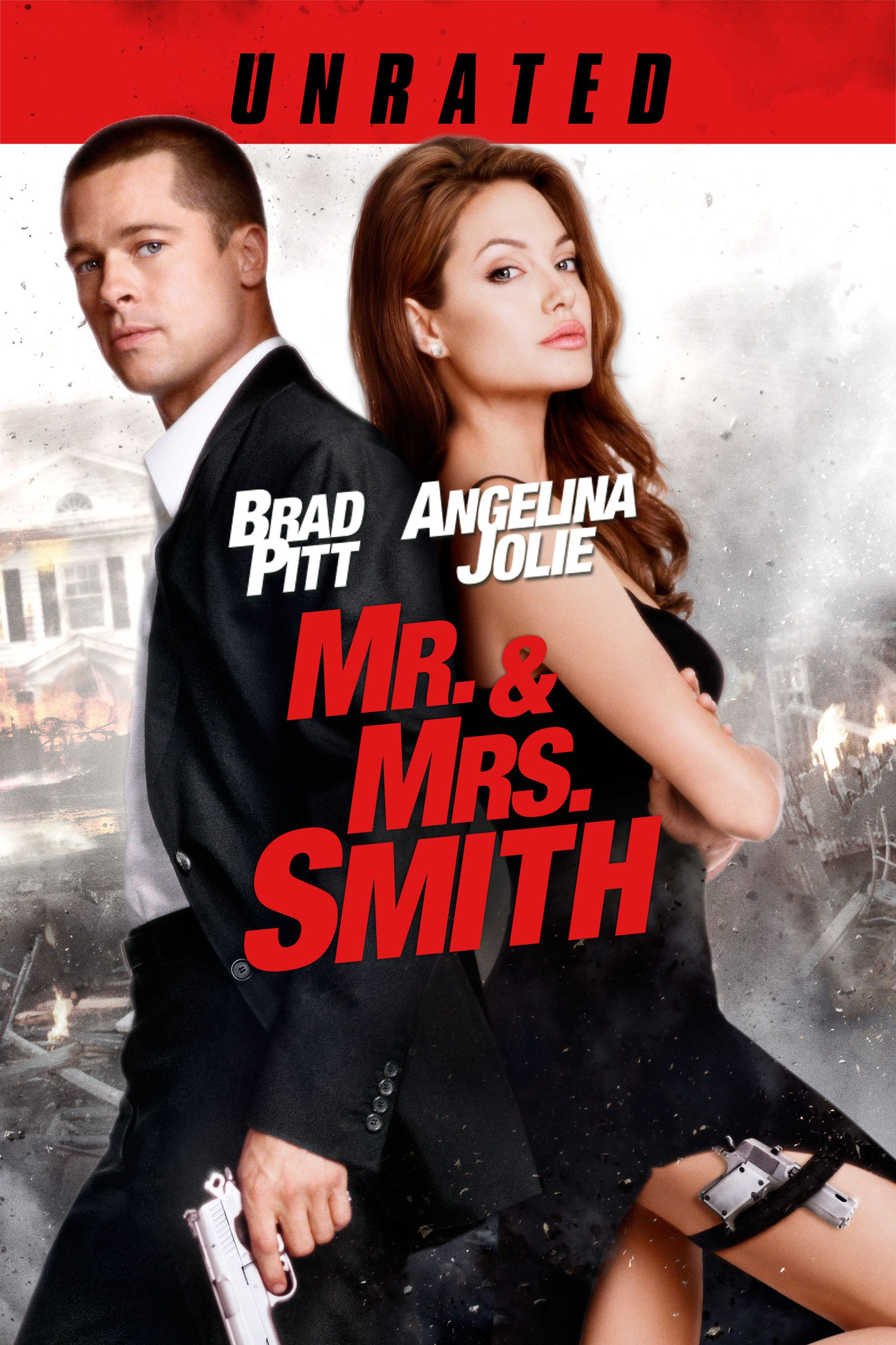 Mr. & Mrs. Smith (Unrated) Movie Poster Brad Pitt
