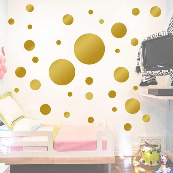 Photo of Round Circle Pattern Paste Beweglicher Aufkleber für Kinderzimmer Wohnzimmer Dekor