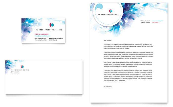 Promote a Cosmetology Business with Stylish Design Cosmetologist - free letterhead templates for word