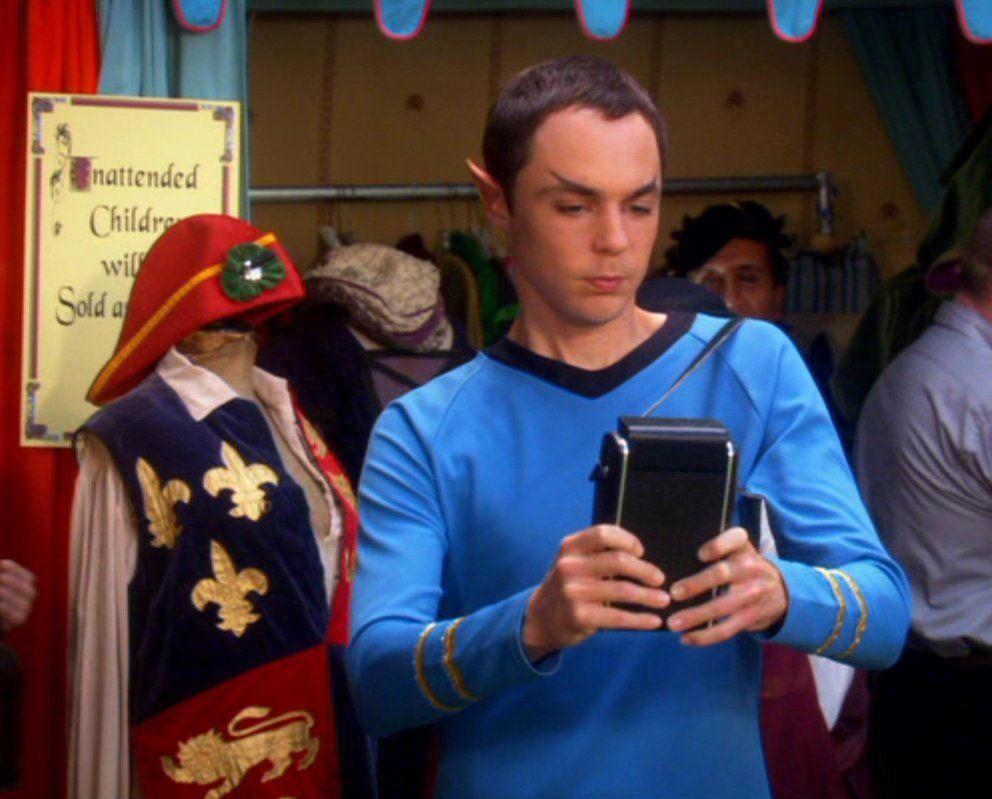 Sheldon as Spock (Big Bang Theory)