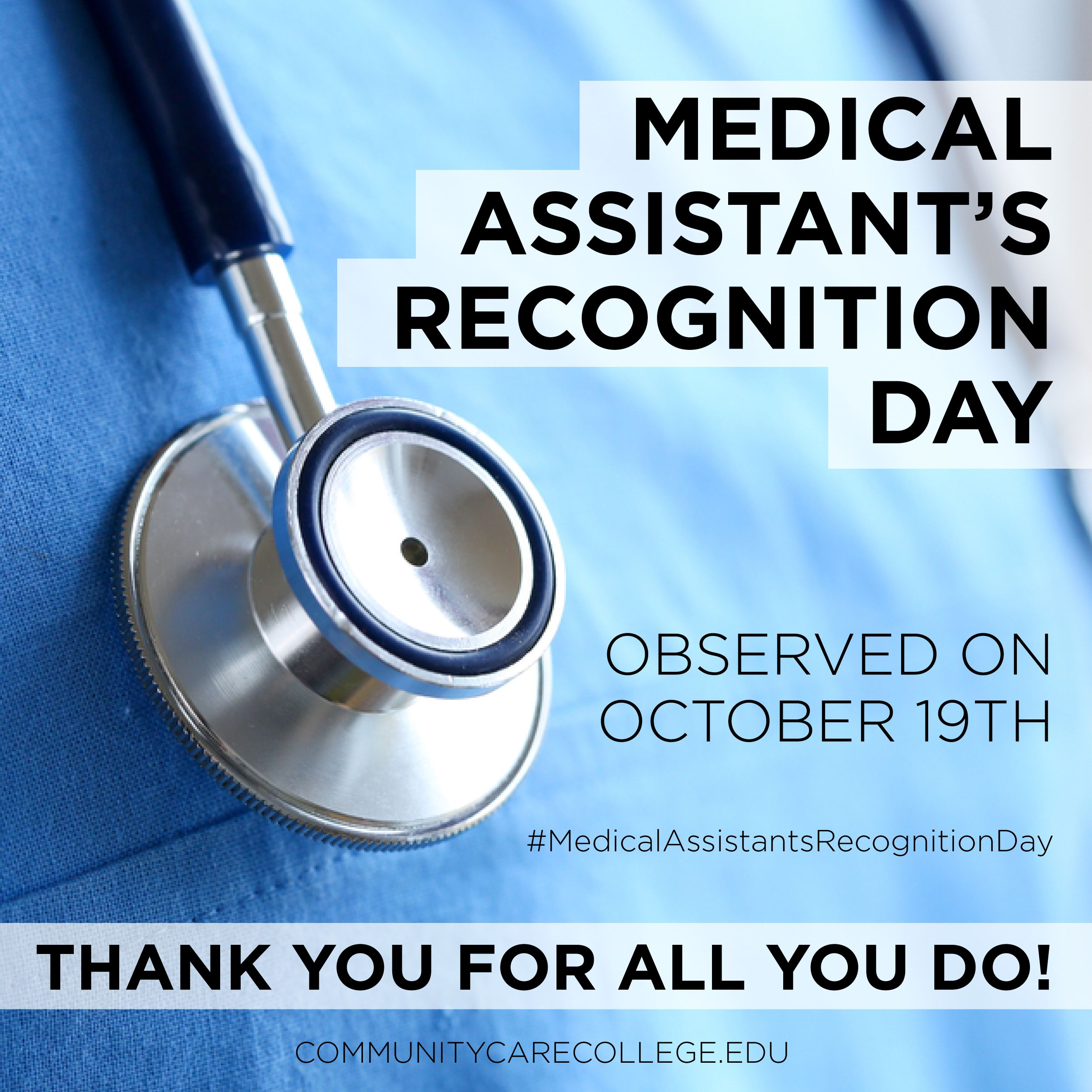 Did you know today is the national medical assistants