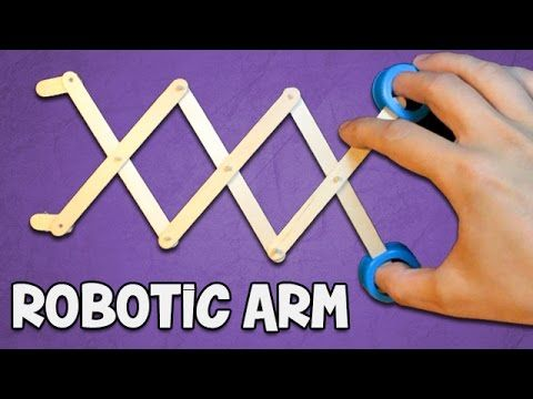 How To Make A Robotic Arm Easy And Simple Simple Machine Projects Robot Craft Robots For Kids
