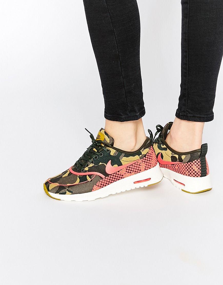 Nike Air Max Thea Camo Print Trainers Fashion Pinterest