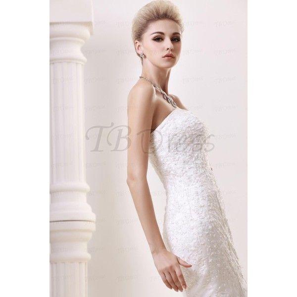 Mermaid Wedding Dresses Polyvore : Glorious trumpet mermaid strapless lace chapel dasha s