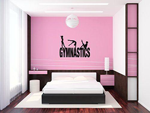Gymnasts Gymnastics Vinyl Wall Words Decal Sticker Graphic | Olivia ...