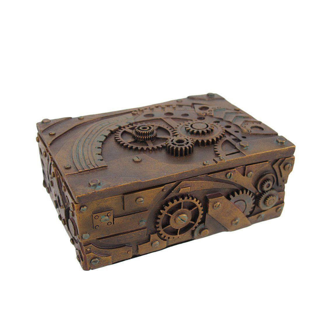 new steampunk trinket jewelry box steam punk stash objets scrap pinterest steampunk. Black Bedroom Furniture Sets. Home Design Ideas