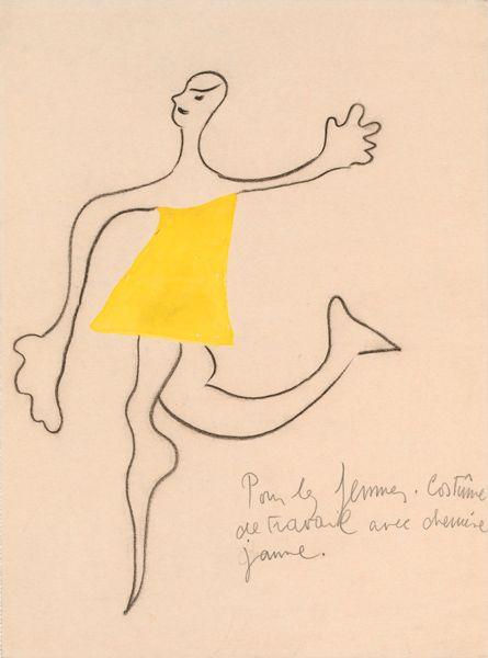Roméo et Juliette, costume design by Joan Miró, ca. 1926