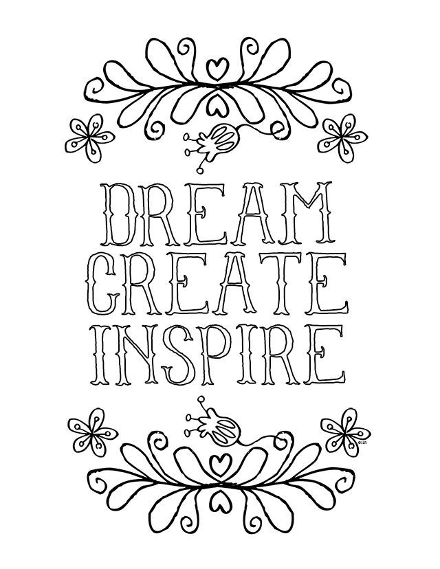 Creative and inspirational coloring page for kids of all ages livelaughrowe com printable