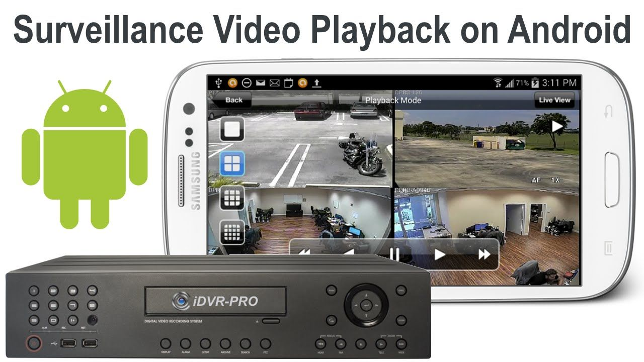 Remotely playback recorded video surveillance from your