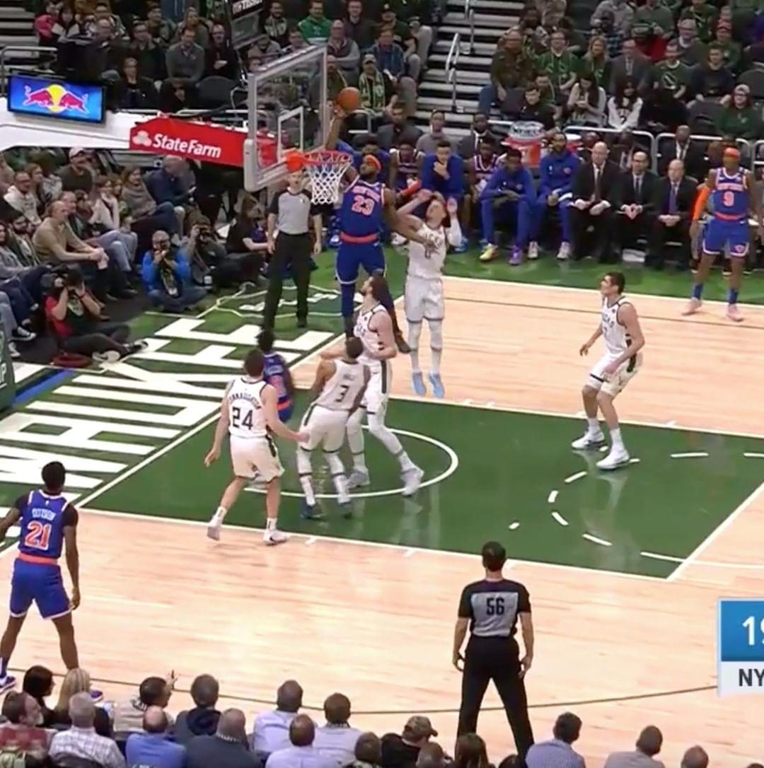 New York Knicks That Mitch alleyoop never gets old … in