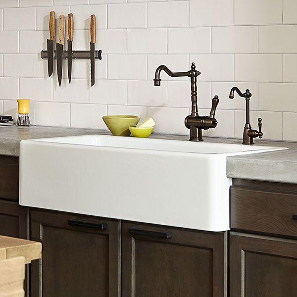 Dxv Hillside 36 Inch Kitchen Sink Room Scene Canvas White Farm
