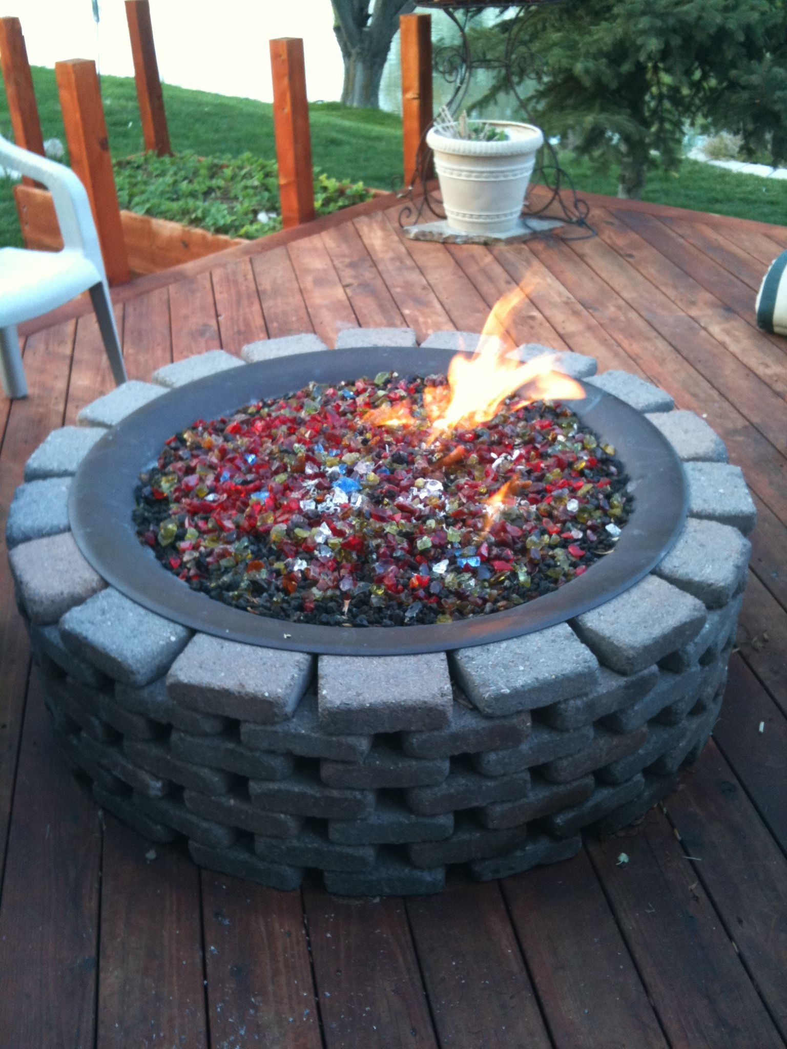 homemade fire pit by the genius barton backyard fire pits