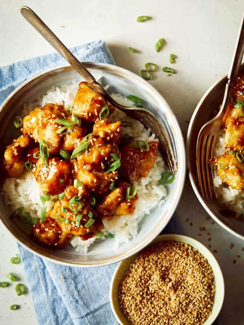 easy and tasty sesame chicken recipe  spoon fork bacon