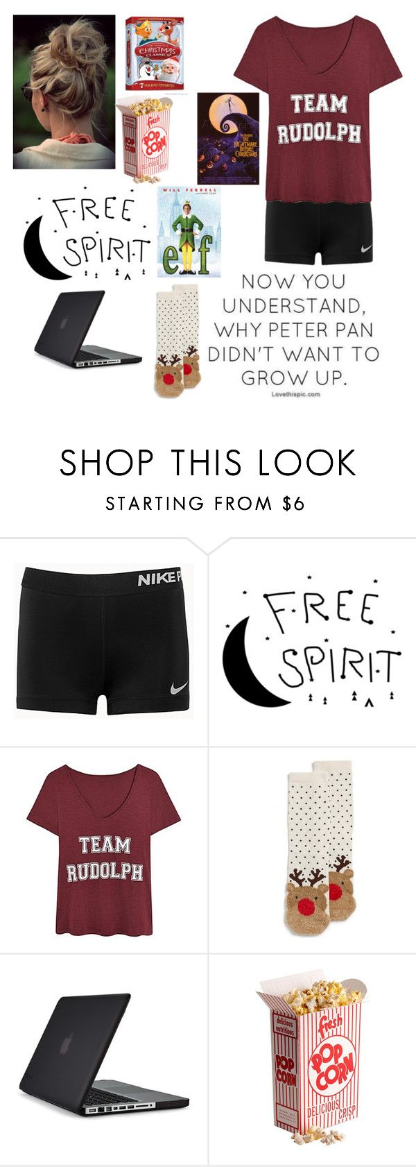 """10 days till Christmas!"" by potato-swan77 ❤ liked on Polyvore featuring NIKE, Topshop and Speck"