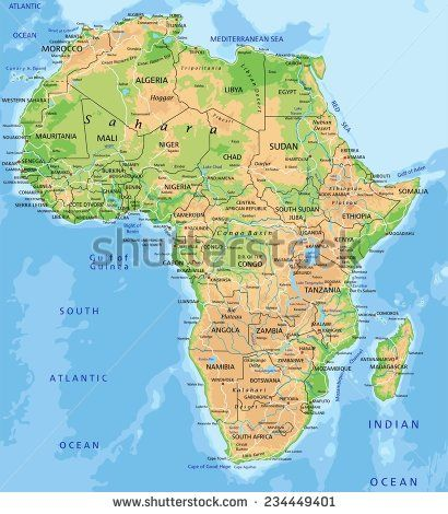 Labeled Africa Desert Map.High Detailed Africa Physical Map With Labeling Africa