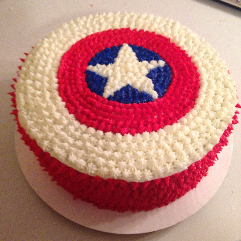 Captain America shield cake I Maed Dis Pinterest