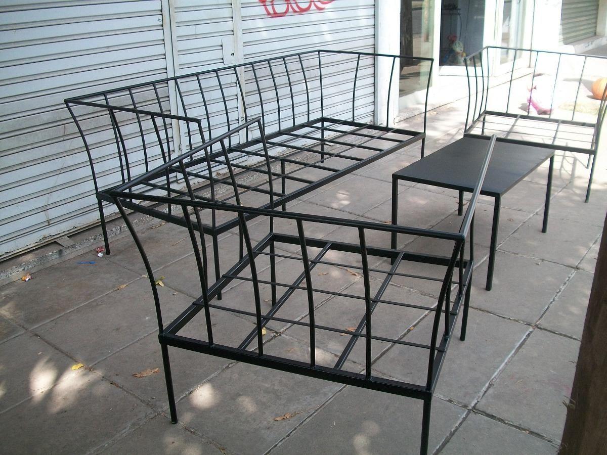 juego de sillones de hierro. ideales para jardin | mesas y sillas ...