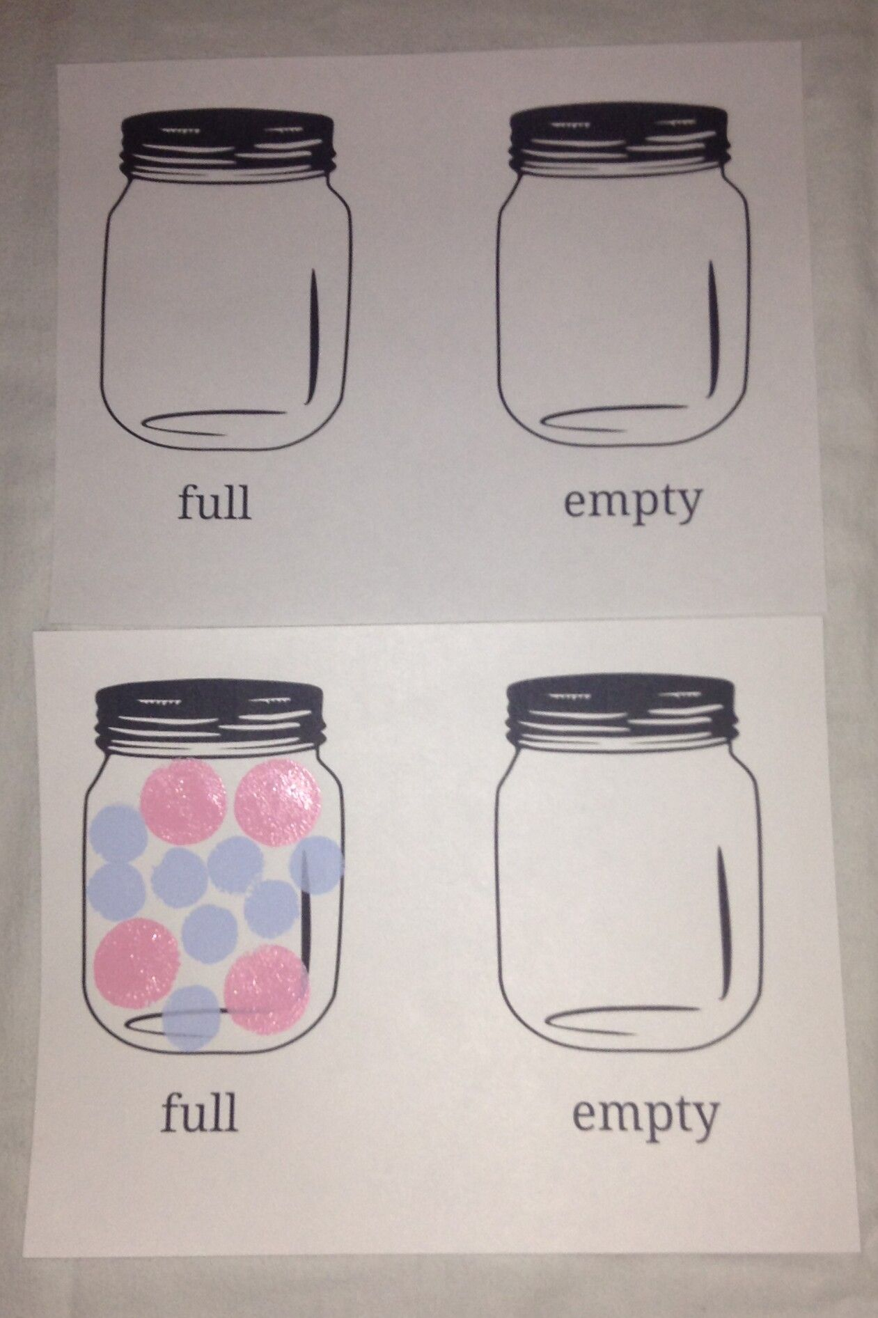 Full Empty Concept Fill Jar With Anything