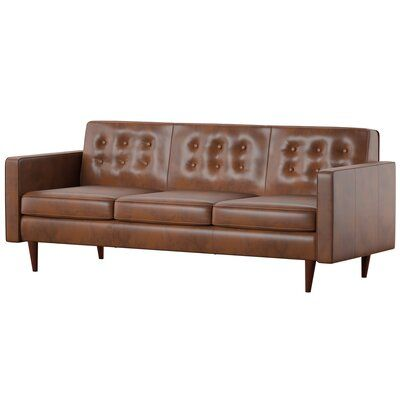 Mercury Row Louane Sofa Modern Leather Sofa Leather Sofa