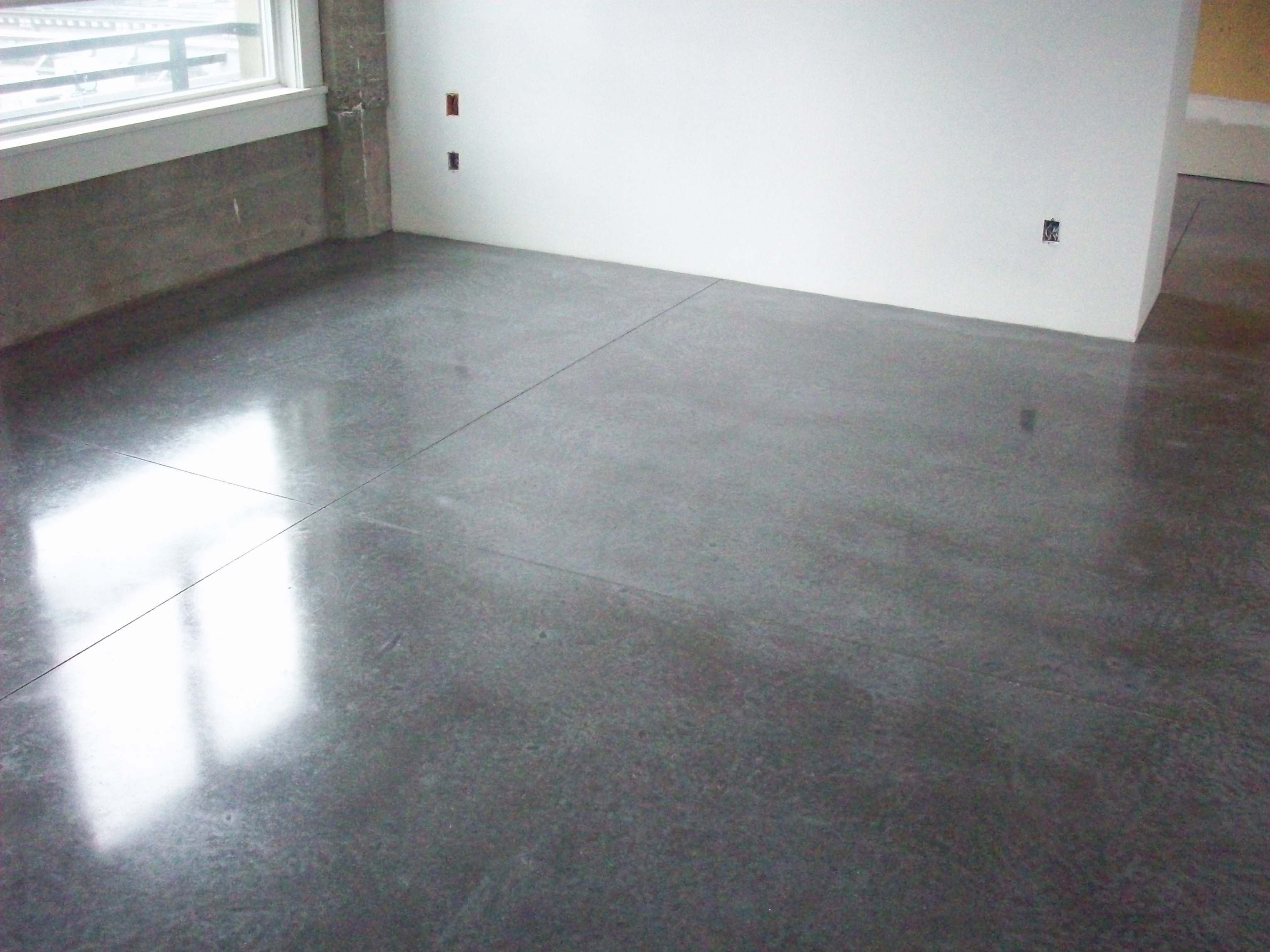 Floor Coverings Kitchen Concrete Floors Diamond Buffing Is An Economical Option For