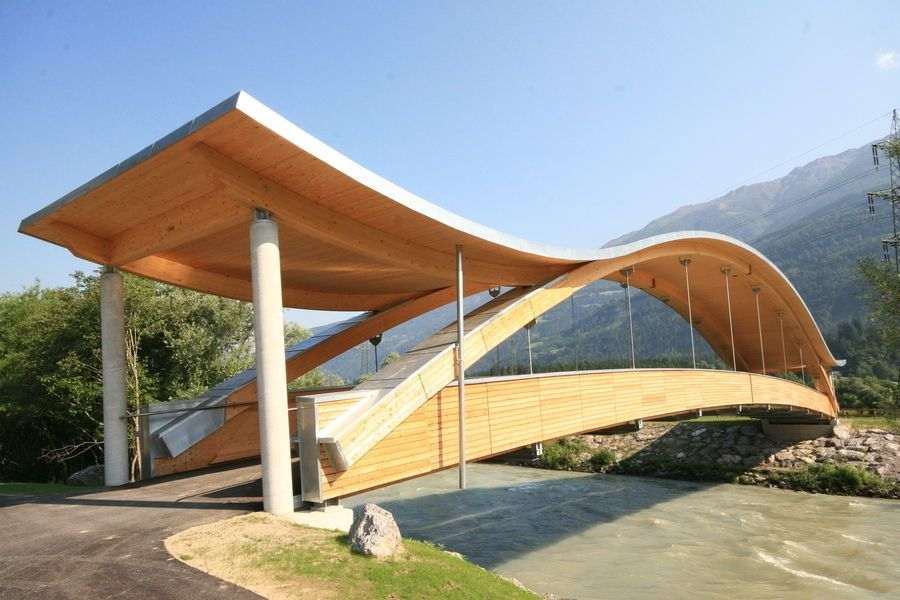 Wooden beam / glulam / arched HASSLACHER NORICA TIMBER