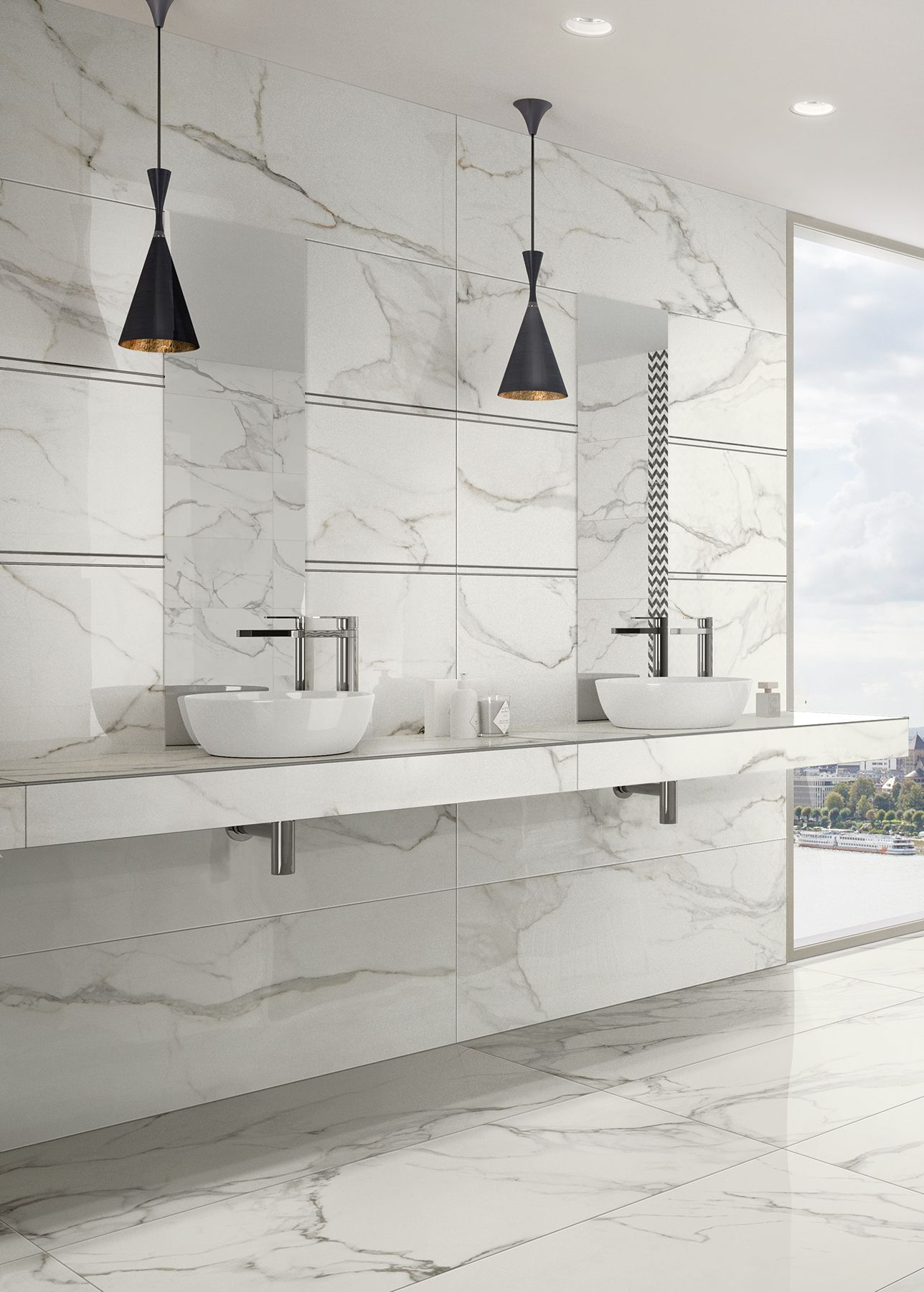 Large Format Porcelain Tile That Looks Just Like Real Marble