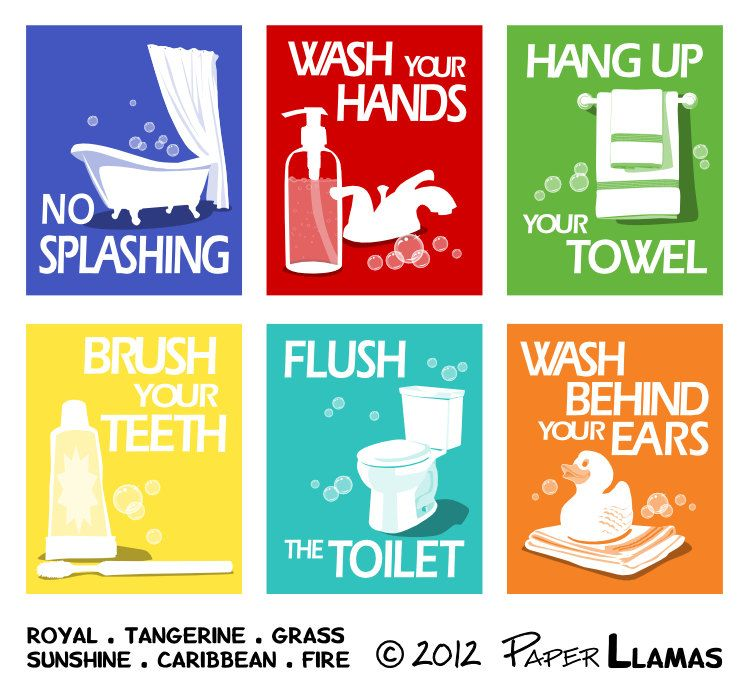 44+ Bathroom rules for kids ideas